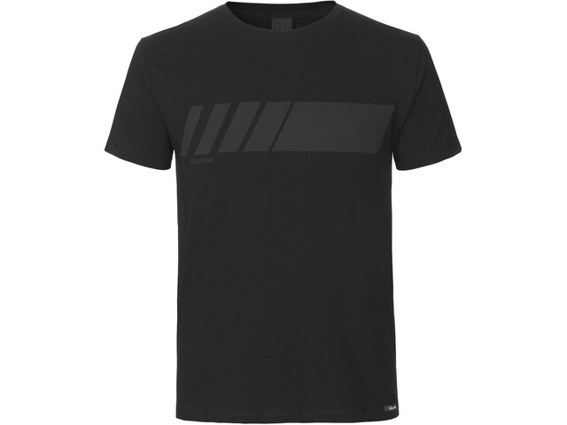 GripGrab Racing Stripe SS Organic Cotton T-Shirt black